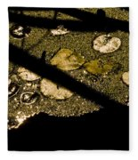 Lily Pads And Shadows Fleece Blanket