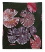 Lily Pads In The Pond Fleece Blanket
