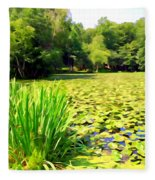 Lily Pond #4 Fleece Blanket