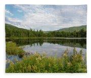 Lily Pond - White Mountains, New Hampshire Fleece Blanket
