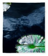Lilypads And Sky Reflections Fleece Blanket