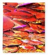 Crimson Lilypads Floating.. Fleece Blanket