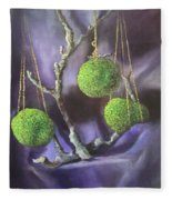 Lime And Violet In Harmony Fleece Blanket