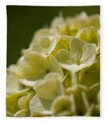 Lime Hydrangea Fleece Blanket
