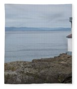 Lime Kiln Lighthouse Panorama Fleece Blanket