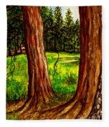 Lime Meadow Fleece Blanket