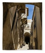 Limestone And Sharp Shadows - Old Town Noto Sicily Italy Fleece Blanket