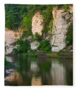 Limestone Bluffs Along Upper Iowa Fleece Blanket