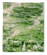 Limestone Detail Minerva Springs Yellowstone National Park Fleece Blanket
