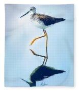 Lesser Yellow Legs Water Shadow Fleece Blanket
