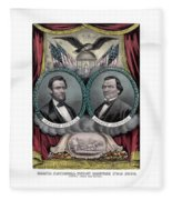 Lincoln And Johnson Election Banner 1864 Fleece Blanket