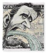 Lincoln Barfs Fleece Blanket