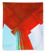 Lincoln Colomn Red Fleece Blanket
