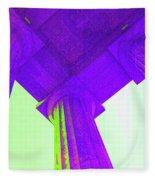 Lincoln Column Purple Fleece Blanket