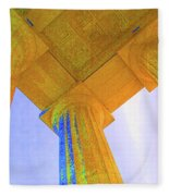 Lincoln Column Yellow Fleece Blanket