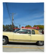 Lincoln Continental At Brint's Diner Fleece Blanket