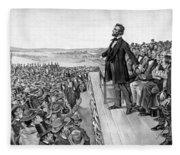 Lincoln Delivering The Gettysburg Address Fleece Blanket