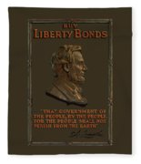 Lincoln Gettysburg Address Quote Fleece Blanket