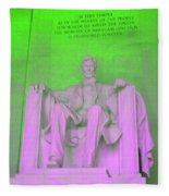 Lincoln In Green Fleece Blanket