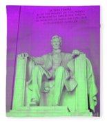 Lincoln In Purple Fleece Blanket