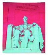 Lincoln In Red Fleece Blanket
