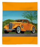 Lincoln K Convertible 1935 Painting Fleece Blanket