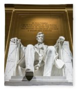Lincoln Memorial 2 Fleece Blanket