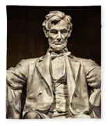 Lincoln Monument Fleece Blanket