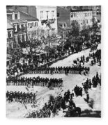 Lincolns Funeral Procession, 1865 Fleece Blanket
