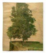 Linden Tree On A Bastion 1494 Fleece Blanket