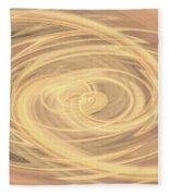 Line Art In Gold And Yellow Fleece Blanket
