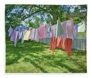Line Dry - Laundry Fleece Blanket