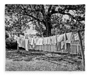 Line Drying - Laundry Fleece Blanket