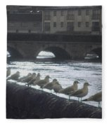 Line Of Birds Fleece Blanket