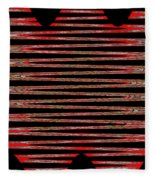 Linear Lesson In Black And Red Fleece Blanket