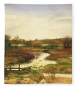 Lingering Autumn Fleece Blanket