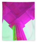 Linocln Column Pink Fleece Blanket