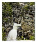 Linville Falls The Upper View Fleece Blanket