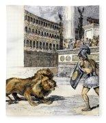 Lion & Gladiator Fleece Blanket