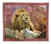 Lion And The Lamb Fleece Blanket