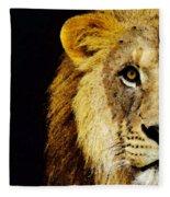 Lion Art - Face Off Fleece Blanket