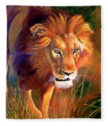 Lion At Sunset Fleece Blanket