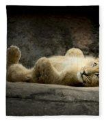 Lion Cub Fleece Blanket