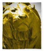 Lion Gold Fleece Blanket
