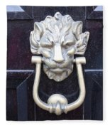 Lion Head Door Knocker Fleece Blanket