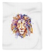 Lion Head Fleece Blanket