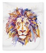 Lion Head Fleece Blanket