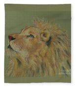 Lion Hearted Fleece Blanket