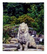 Lion In A Concrete Jungle Fleece Blanket