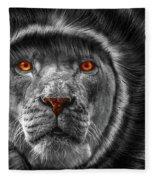 Lion Lady   -3 Fleece Blanket